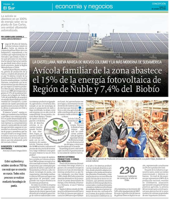 Coliumo: Abastece parte de la energía fotovoltaica del Ñuble y Biobío